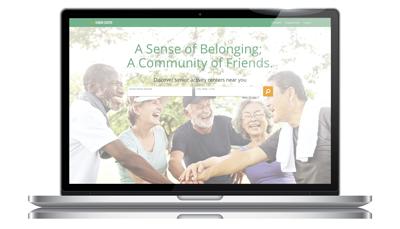 Our Senior Center website screenshot