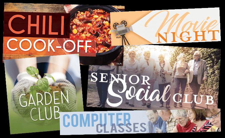 Examples of Clip Art for Senior Center Programs
