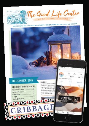 Senior clip art in newsletter and social media examples
