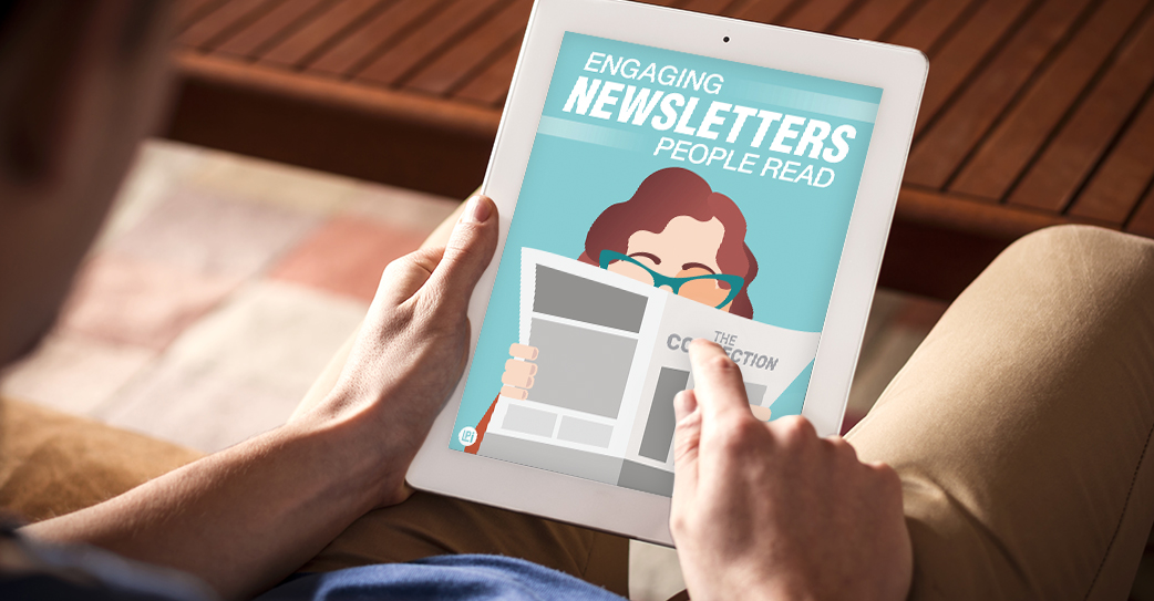 Resource 'Create Engaging Newsletters People Read' read on tablet