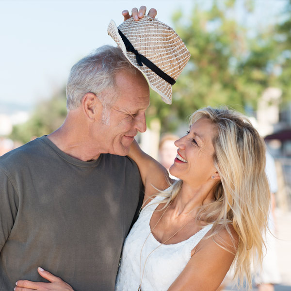 senior couple in sun