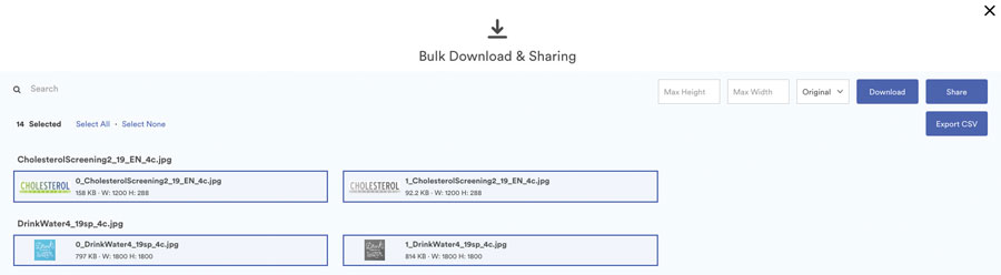 Screenshot of WeCreate 'Download Some' View