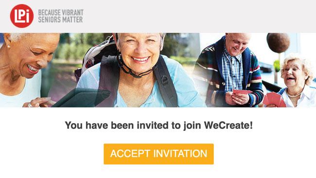WeCreate email invitation example