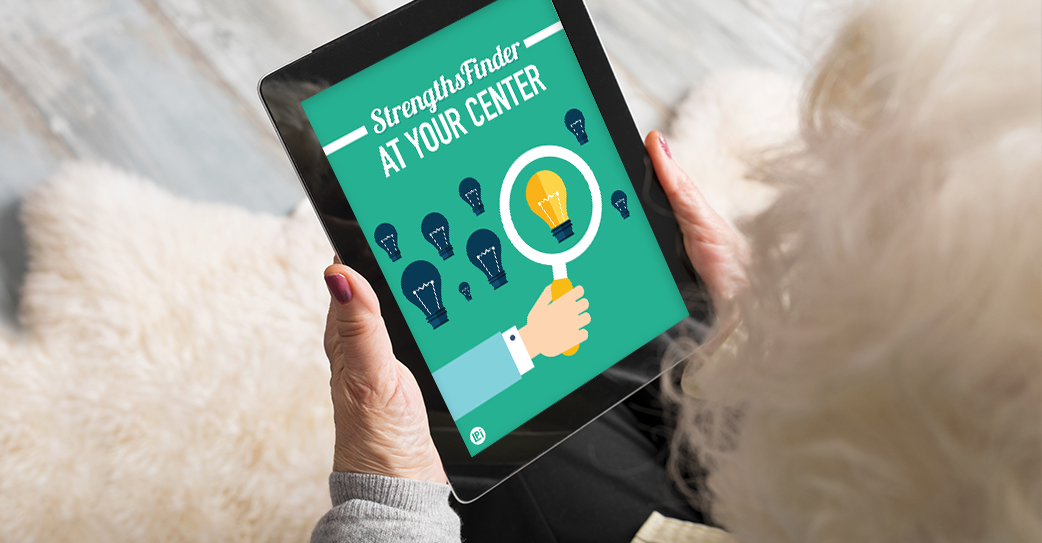 Resource 'StrengthsFinder at Your Senior Center' read on tablet
