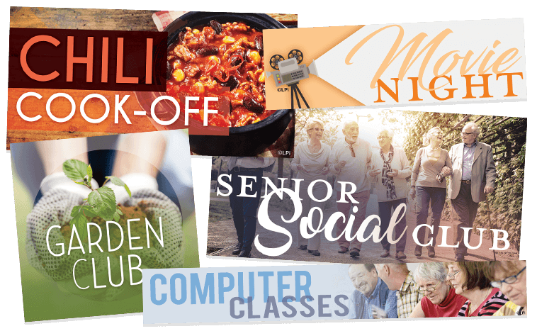 Examples of Clip Art for Senior Center Programs