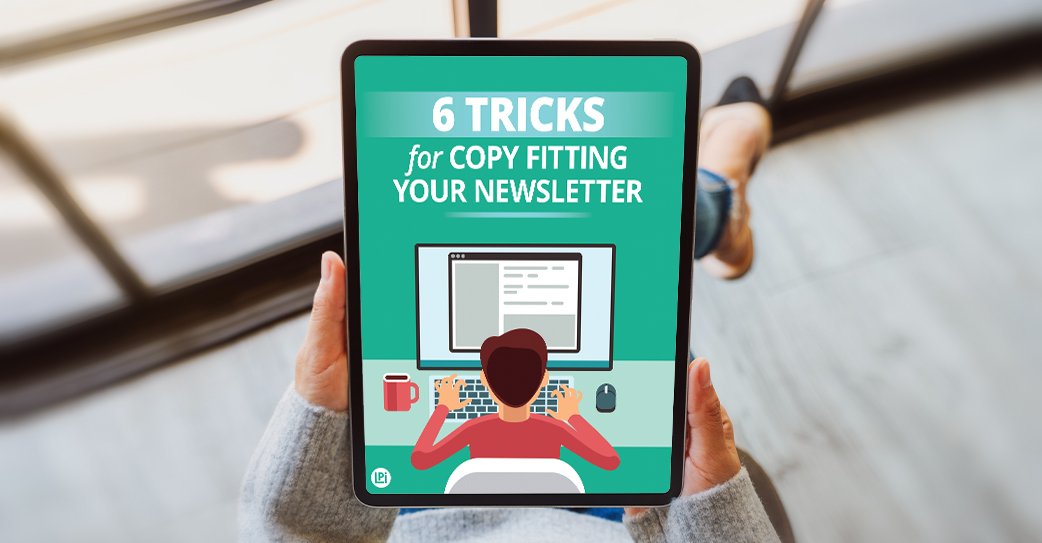 Resource 'Tricks for Copy Fitting Your Newsletter' read on tablet